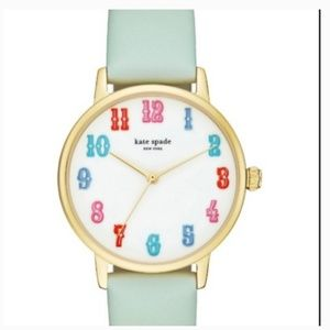 kate spade carnival metro leather watch blue nwt